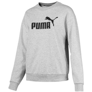 Puma DamenEssentials Logo Crew Sweat Women grau