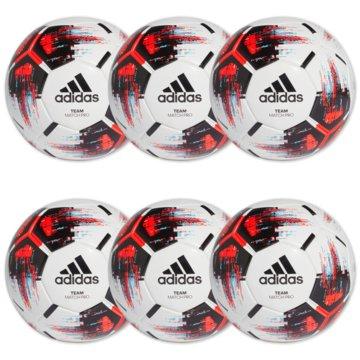 adidas BälleTeam Match Ball 6er Ballpaket weiß