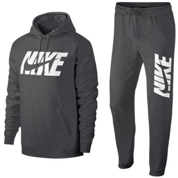 Nike TrainingsanzügeSportswear Graphic Fleece Track Suit grau