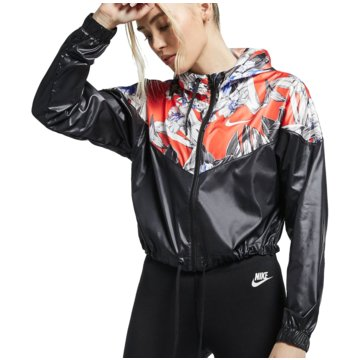 Nike TrainingsjackenSportswear Windrunner Femme Crop Jacket Women schwarz