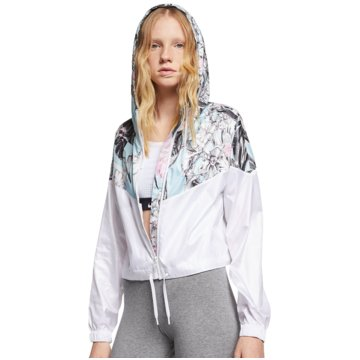 Nike TrainingsjackenSportswear Windrunner Femme Crop Jacket Women weiß