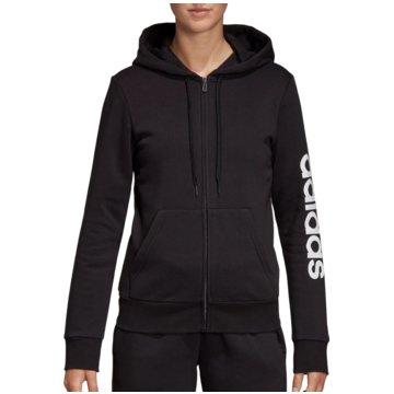 adidas HoodiesEssentials Linear FZ Fleece Hoody Women schwarz