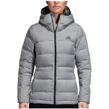 adidas FunktionsjackenHelionic Down Hooded Jacket Women grau