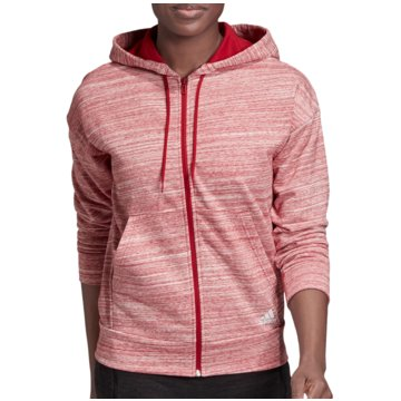 adidas HoodiesMust Haves Heathered FZ Hood Women rot