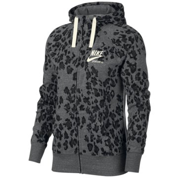 1f845ee759dab0 Nike SweatjackenAnimal Print Leopard Gym Vintage FZ Hoodie Women grau