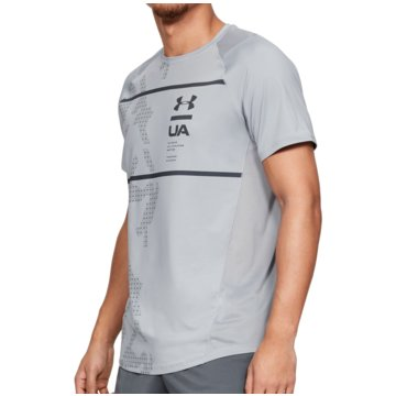 Under Armour T-ShirtsMK-1 HeatGear SS Printed Tee grau