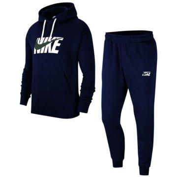 Nike JogginganzügeSportswear Graphic Fleece Track Suit blau