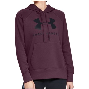 Under Armour SweaterRival Fleece Graphic Hoodie Women rot