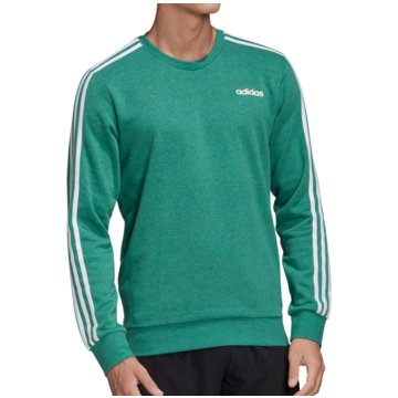 adidas SweatshirtsEssentials 3-Stripes Crew FT grün