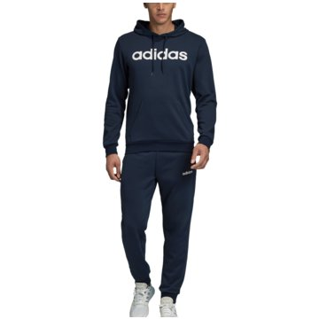 adidas TrainingsanzügeHooded Cotton Tracksuit blau
