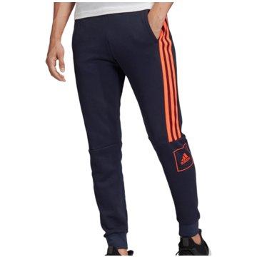 adidas Trainingshosen3 Stripes Slim Pant blau