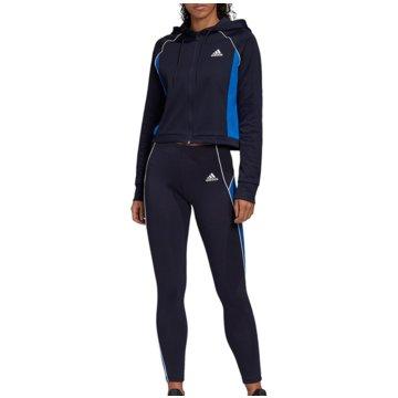 adidas TrainingsanzügeTrack Suit Hoodie and Tights Women blau