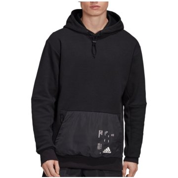 adidas HoodiesWoven Pocket Hoodie schwarz