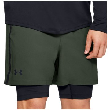 Under Armour kurze SporthosenQualifier 2-in-1 Short grün