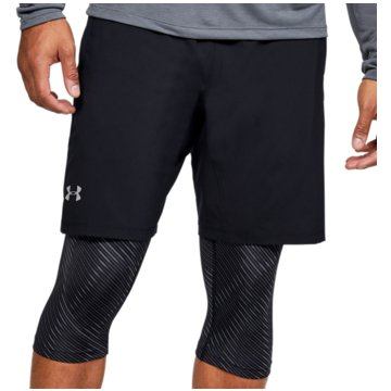 Under Armour LaufshortsLaunch Stretch Woven 2-in-1 Short schwarz