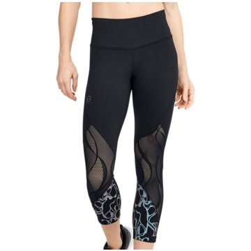 Under Armour 3/4 SporthosenRush Vent Graphic Crop Pant Women schwarz