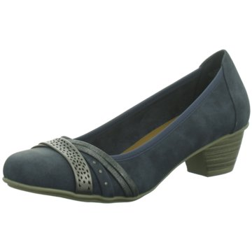 Idana Flacher Pumps blau