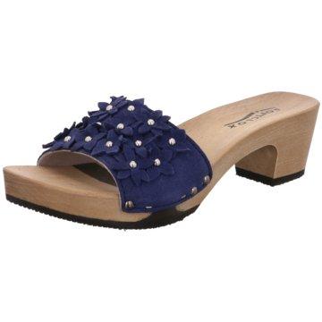 Softclox Plateau PantolettePantolette blau