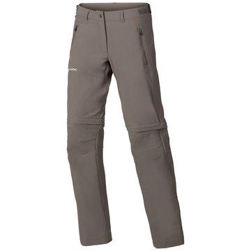 VAUDE OutdoorhosenWOMEN'S FARLEY STRETCH ZO T-ZIP PANTS - 40144 braun