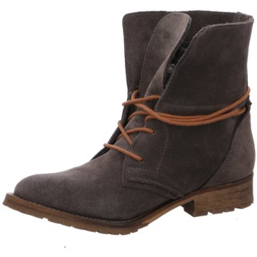 SPM Shoes & Boots Schnürstiefelette grau