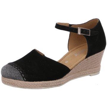 Gabor Espadrilles Sandalen schwarz