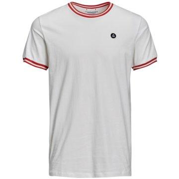 Jack & Jones T-Shirts basic weiß