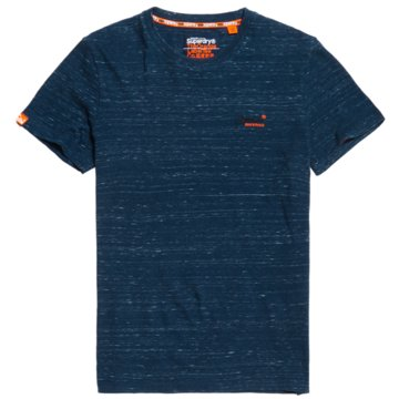 Superdry T-Shirts basic blau
