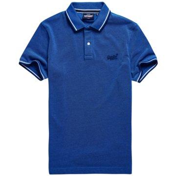 Superdry Poloshirts blau