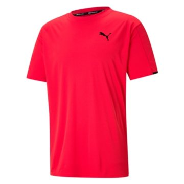 Puma T-Shirts basicTRAIN GRAPHIC SS TEE - 520116 rot