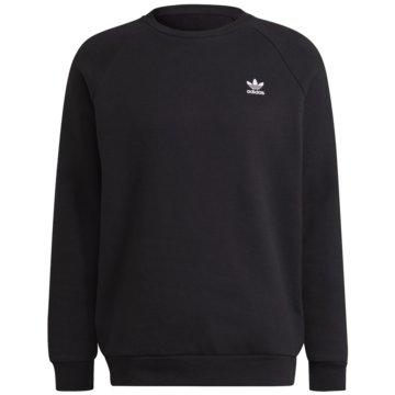 adidas FleecepulloverAdicolor Trefoil Sweatshirt schwarz