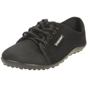 Leguano Komfort Schnürschuh schwarz