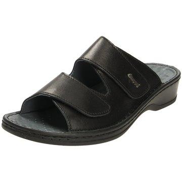 Stuppy Komfort Pantolette schwarz
