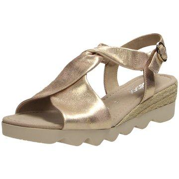 Gabor comfort Komfort Sandale gold