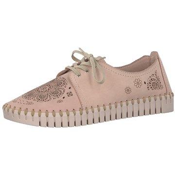 Tamaris Komfort Schnürschuh rosa