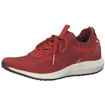 Tamaris Sportlicher SchnürschuhSneaker rot