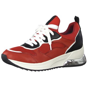 Tamaris Sportlicher Schnürschuh rot