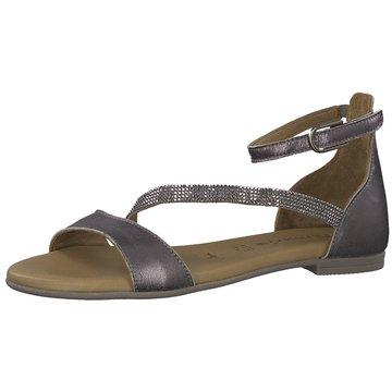 tamaris flache sandale blau
