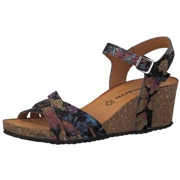 Schuhe Sandalen Keilabsatz Leder weiß Tamaris Gr. 39