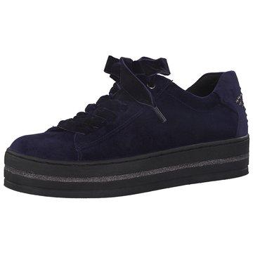 Marco Tozzi Plateau Sneaker blau