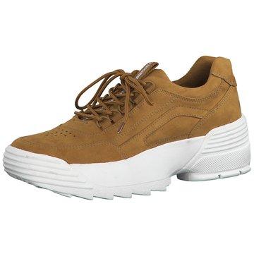 Marco Tozzi Plateau Sneaker braun
