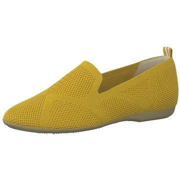 Marco Tozzi Klassischer Slipper gelb
