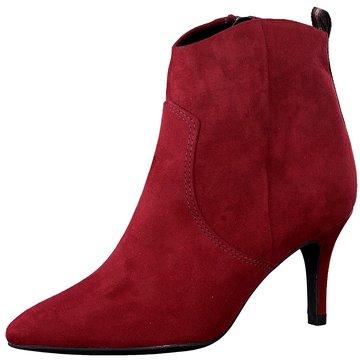 Marco Tozzi Klassische Stiefelette rot