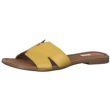 s.Oliver Klassische Pantolette gelb