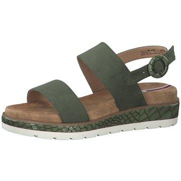 s.Oliver Plateau Sandalette grün