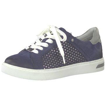 Be Natural Sportlicher Schnürschuh blau