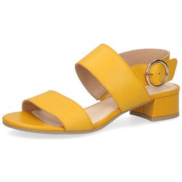 Caprice Riemchensandalette gelb