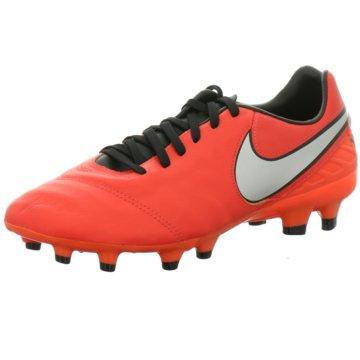 Nike Nocken-SohleTiempo Mystic V FG Herren Fußballschuhe Nocken weiß/orange coral