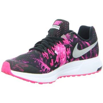 Nike Trainings- und HallenschuhZoom Pegasus 33 Print GS Kinder Laufschuhe Running schwarz pink