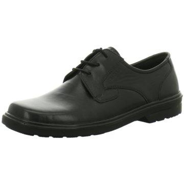 Montega Komfort Schnürschuh schwarz