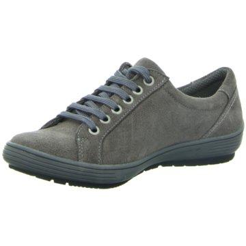 Longo Komfort Schnürschuh grau